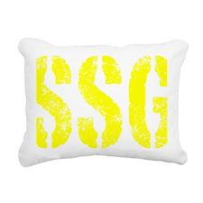 Staff Sergeant SSG rank Rectangular Canvas Pillow