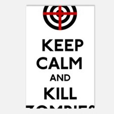 Keep Calm and Kill Zombie Postcards (Package of 8)