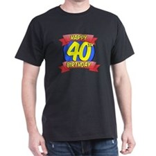 Happy 40th Birthday Balloon T-Shirt