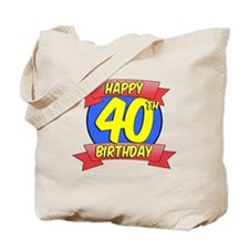 Happy 40th Birthday Balloon Tote Bag
