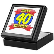 Happy 40th Birthday Balloon Keepsake Box