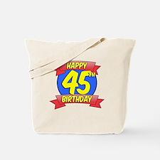 Happy 45th Birthday Balloon Tote Bag