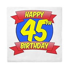 Happy 45th Birthday Balloon Queen Duvet