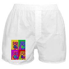 Op Art Shar Pei Boxer Shorts