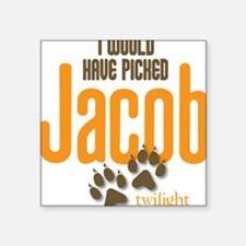 "Pick Jacob Square Sticker 3"" x 3"""