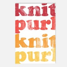 Knit Purl Retro Postcards (Package of 8)