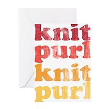 Knit Purl Retro Greeting Card