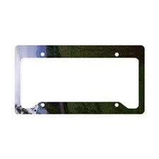 framed mountian view License Plate Holder
