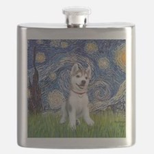 Starry-Siberian pup Flask