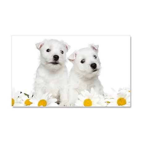 Westie Puppies Car Magnet 20 x 12