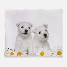 Westie Puppies Throw Blanket