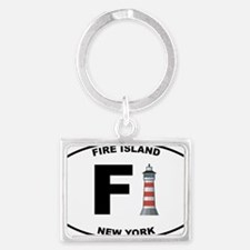 Fire-Island-lighthouse-clear Landscape Keychain