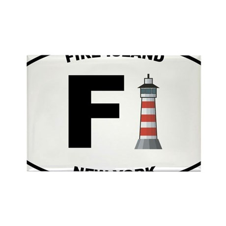 Fire-Island-lighthouse-clear Rectangle Magnet