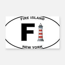Fire-Island-lighthouse-clear Rectangle Car Magnet