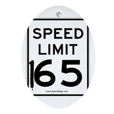 Speed Limit 165 Oval Ornament