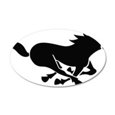 runningHorse1A 35x21 Oval Wall Decal