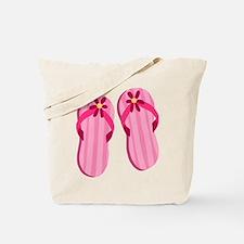 Pink Flip Flops Tote Bag