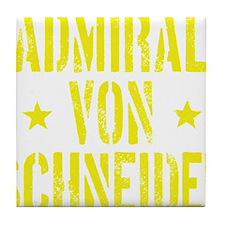 Admiral von Schneider Tile Coaster