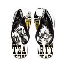 Tea Party RevolutionaryFINAL2 Flip Flops
