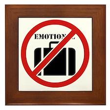 No Emotional Baggage Framed Tile