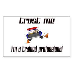 Trained Professional Rectangle Decal
