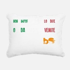 MS is BS in Italian Rectangular Canvas Pillow