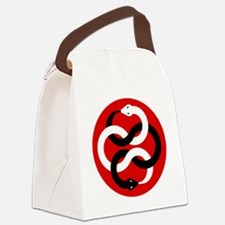 Double Oroborous-Red Canvas Lunch Bag