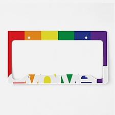 Evolved LGBT License Plate Holder
