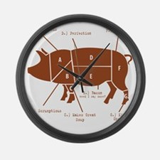 Delicious Pig Parts! Large Wall Clock