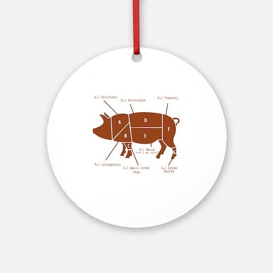 Delicious Pig Parts! Round Ornament