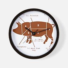 Delicious Pig Parts! Wall Clock