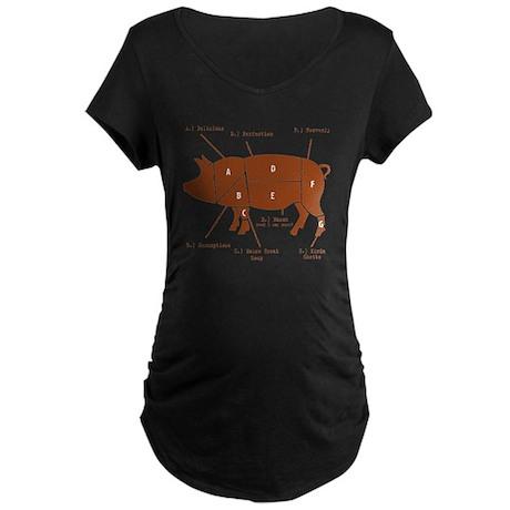 Delicious Pig Parts! Maternity Dark T-Shirt