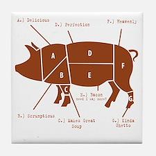 Delicious Pig Parts! Tile Coaster