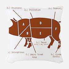 Delicious Pig Parts! Woven Throw Pillow