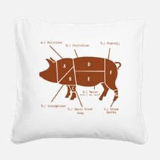 Delicious Pig Parts! Square Canvas Pillow