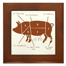 Delicious Pig Parts! Framed Tile