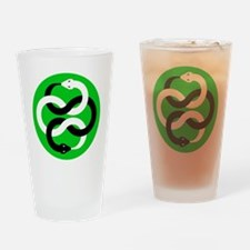 Double Oroborous (Green) Drinking Glass