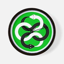 Double Oroborous (Green) Wall Clock