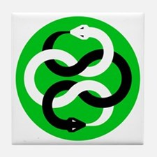 Double Oroborous (Green) Tile Coaster