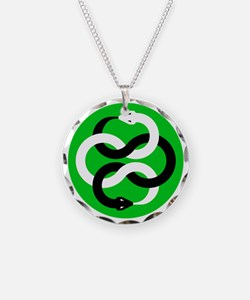 Double Oroborous (Green) Necklace