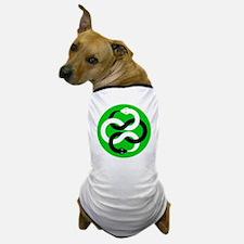Double Oroborous (Green) Dog T-Shirt