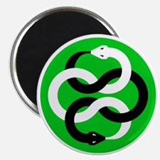 Double Oroborous (Green) Magnet