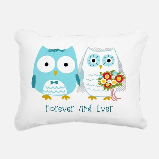 owlsforeverwht Rectangular Canvas Pillow