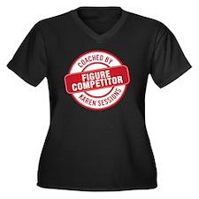 Figure Compe Women's Plus Size Dark V-Neck T-Shirt