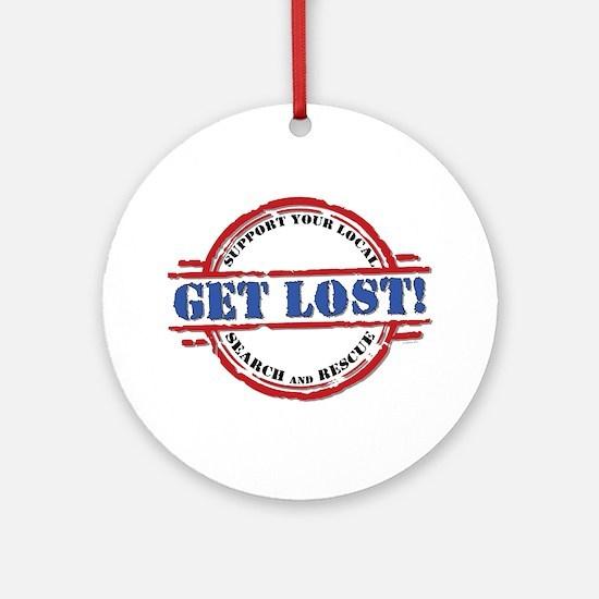 Get Lost: Search & Rescue Ornament (Round)