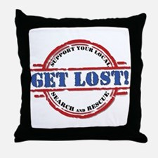 Get Lost: Search & Rescue Throw Pillow