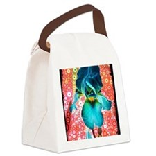 Berry Iris Canvas Lunch Bag