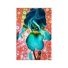 Berry Iris Rectangle Magnet