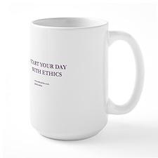 Purple Start Your Day With Ethics Mug