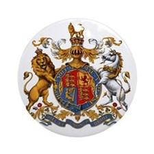 United Kingdom Coat of Arms Heraldr Round Ornament